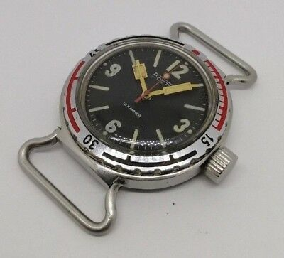 ☭ Watch Vostok Amfibian NVCh-30 atm 300 m Eared Diver USSR Soviet Military 2209