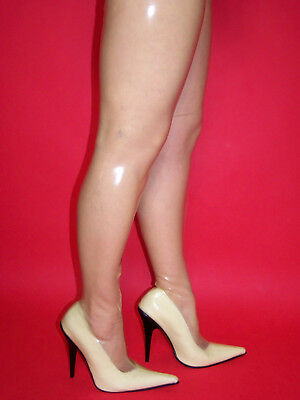 "Promotions Latex Rubber Highs Boots  Size 5-16 Heels-5,5""13Cm- Produce Poland"