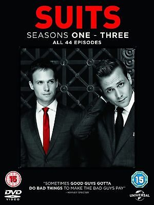 Suits Complete Seasons 1-3 Dvd Gabriel Macht Brand New & Factory Sealed