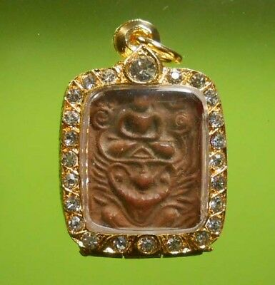 REAL CERTIFICATE 1st AWARD OLD BUDDHA AMULET THAI LP PARN WITH RAGUDA VERY NICE