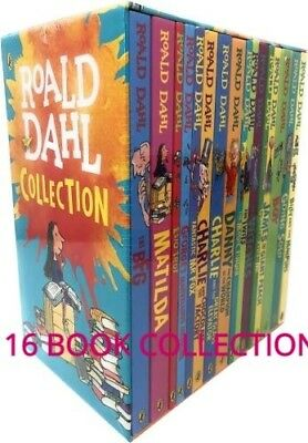 Roald Dahl Collection - 16 Paperback Book Boxed Set