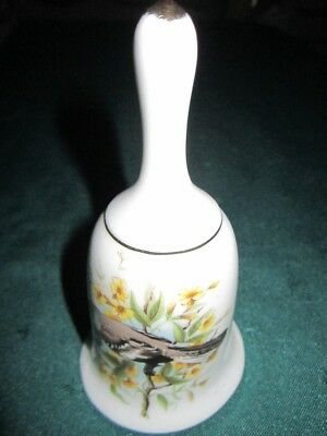 Bone China~'Brinton'~Bird & Flower Hand Bell~VG