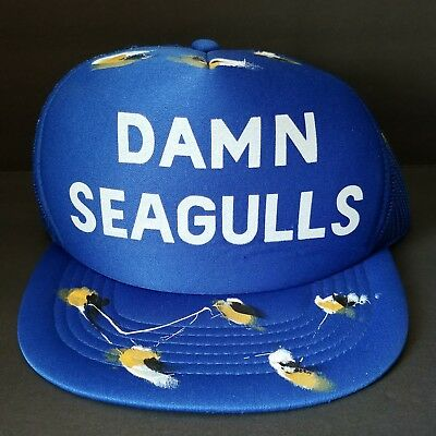 Damn Seagulls Snapback Trucker Hat Blue Bird Poop Funny Mesh Cap Adjustable 2f3db6443d5c