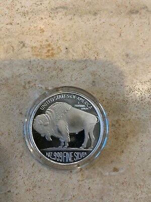 Uncirculated 1 Oz Silver Buffalo Round .999