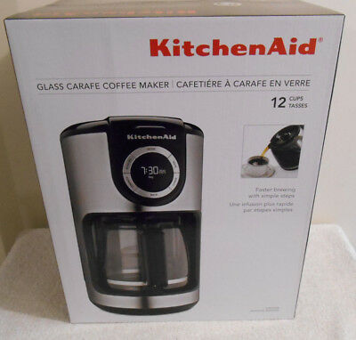KITCHENAID® 12 CUP Coffee Maker with One Touch Brewing Onyx ...