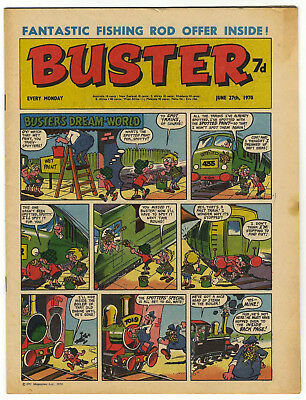 Buster 27 June 1970 (top grade) Rent-A-Ghost, Galaxus, Fishboy, Clever Dick...