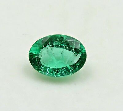 5.31 Ct Awesome Lab Created Emerald Oval Loose Gemstone