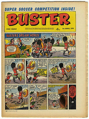 Buster 7 March 1970 (very high grade)Rent-A-Ghost, Galaxus, Fishboy, Clever Dick