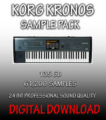 Korg Kronos Samples In Wav Format,  61,200 Samples, 135Gb  **digital Download**