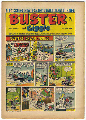 Buster 27 July 1968 (very high) Galaxus, Fishboy, Clever Dick, Mervyn's Monsters