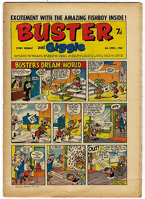 Buster 6 April 1968 (very high) Galaxus, Fishboy, Clever Dick, Mervyn's Monsters