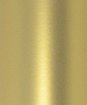 10 X Majestic Real Gold Colour Pearlescent Shimmer Double Sided Card 250Gsm