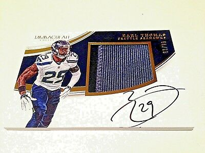 Earl Thomas III 2016 Panini Immaculate Coll. Gold 2cl. GW Jersey Autograph #/99