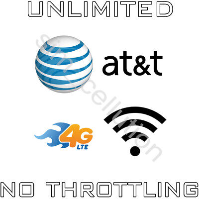 AT&T Unlimited 4G LTE No Contract Data Plan $34.99 Monthly Hotspot Tablet Modem