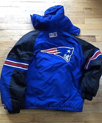 sale retailer d234d cdc51 VINTAGE NEW ENGLAND Patriots Starter NFL Pro Line Jacket XL Youth Blue  Pullover