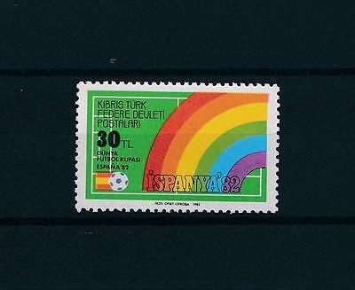 [59308] Turkish Cyprus 1982 World Cup Soccer Football Spain from set MNH