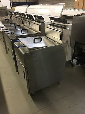 Pitco SG14 TS stile Gas Chip Fryer, Double Tank , Fryking UK, LPG or NG