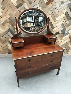 Vintage Swing Mirror Dressing Table With Drawers