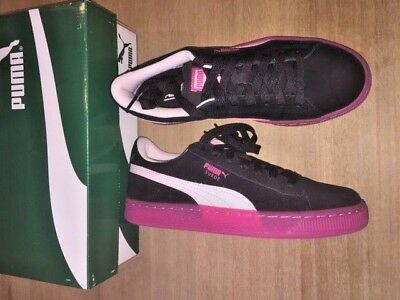 Puma Suede LFS Iced Jr GS 36308603 Junior Shoes Size 6C US Black Pink New in d0e0d9cfe