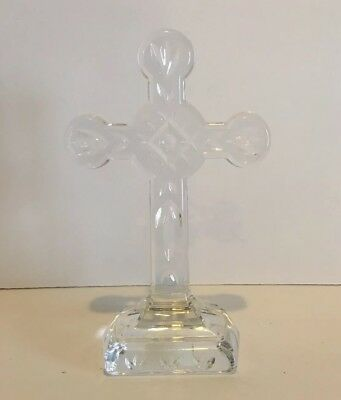 Waterford Crystal Religious Christianity Standing Cross Sculpture #107898