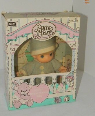 PRECIOUS MOMENTS BABY Boy Doll My First w/ Box Rose Art 1992 New but opened