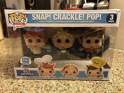 Funko Pop! vinyl figure 3 pack - Cereal Ad Icons - Snap, Crackle, Pop EXCLUSIVE