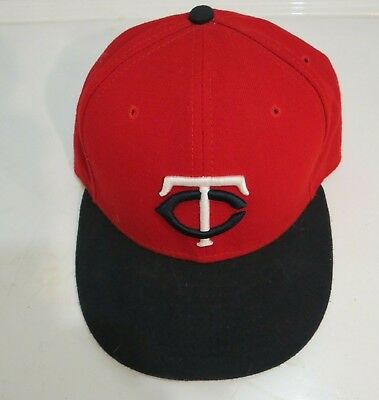 low priced c66cf c623f New Era Minnesota Twins ALT 2 59Fifty Fitted Hat (Red Navy) MLB Cap