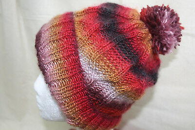 Knitting Kit- Cable hat- yarns and pattern included. Nice soft yarn.