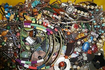ESTATE VINTAGE to NOW JEWELRY LOT NECKLACES EARRINGS  READY TO WEAR NO JUNK 6 pc