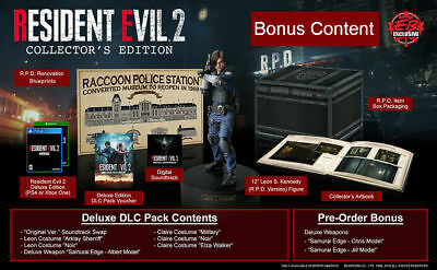 NEW Resident Evil 2 Remake Collector's Edition PS4 Biohazard CAPCOM (Sold Out)