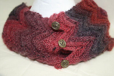 Knitting Kit- Shades of Winter Cowl- yarns and pattern included-very easy.