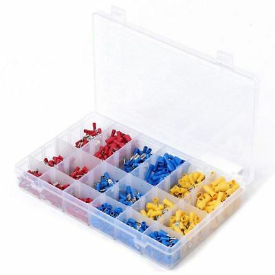 900pcs Assorted Insulated Electrical Wire Terminals Crimp Connector Spade Z2Z1