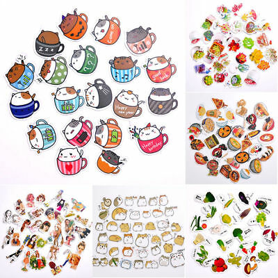 Lot 45Pcs Cute Washi Paper Stickers Diary Decor Stationery Scrapbook Stickers