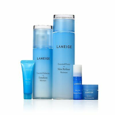 Laneige Water Science Skin Care Basic Duo Set Moisture Set Cream Essence Mask