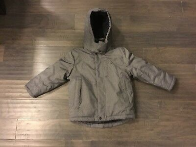 Boys Calvin Klein Fleece Jacket Size XL 7X Grey Used Kids Winter