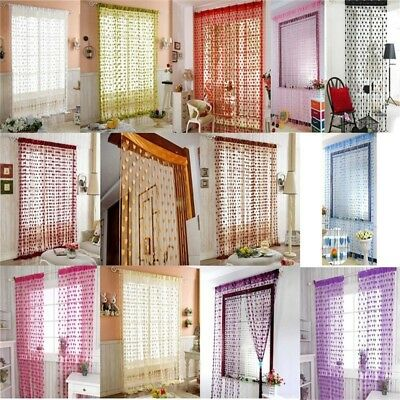 Romantic Heart-Shaped Window Embroidered Line Curtain Blinds Sheer Curtains Room