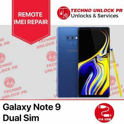 SAMSUNG Galaxy Note 9 REMOTE REPAIR Clean Service and unlock