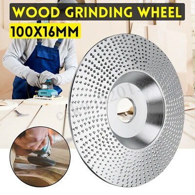 4 Inch Wood Grinding Wheel 100x16MM Wood Sanding Carving Disc for Angle Grinder