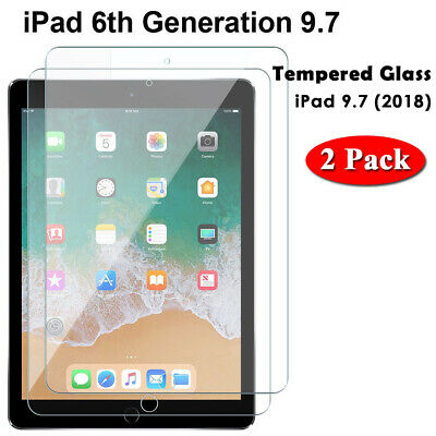 """Tempered Glass Film Screen Protector Fit For Apple iPad 5th Generation 9.7"""" 2017"""