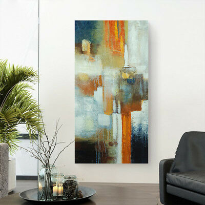 Hand Painted Modern Abstract Oil Painting Stretched Canvas Wall Art Decor Framed