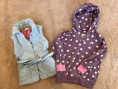 Girls Joules Tops Hoodie Jumper Gilet Bodywarmer Age 4 Bundle