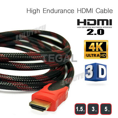 Nylon HDMI Cable 3D Ultra HD 4K 2160p 1080p High Speed with Ethernet HEC V2.0