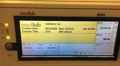 Pearl Technology Medlab Elan Patient monitor