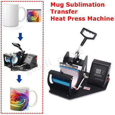 350W Coffee Mug 9oz-15oz Cup DIY Sublimation Heat Press Transfer Machine Printer