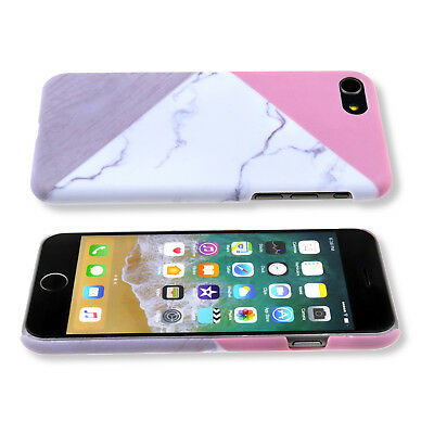 Granite Marble Contrast rbleC PC Hard Phone Back Case for iPhone 6 6S 7 7Plus 8