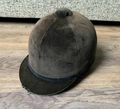 Dublin Junior Horse Riding Helmet- Size 6 3/4 55cm- Brown Velvet