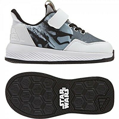 100% authentic c745d 54f53 new ADIDAS kids STAR WARS EL Shoes sz 7K 23.5 toddler baby boy sneakers  white