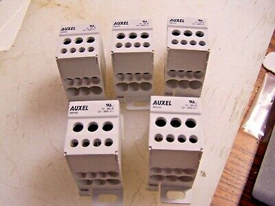 5) NEW Auxel Power Distrubution Block 38049 600V 80A 1Phase 4 Outputs  LOT OF 5