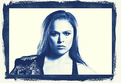 Framed Print - Ronda Rousey UFC Woman Bantamweight Fighter (MMA Picture Poster)