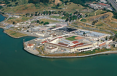 Framed Print - Aerial View of San Quentin Prison (Picture Death Row Murder Art)